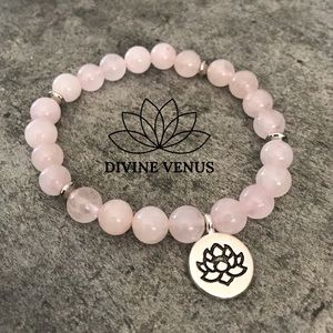Rose Quartz Lotus Bracelet